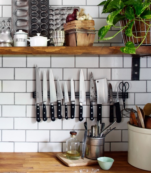 Knife magnet kitchen hack