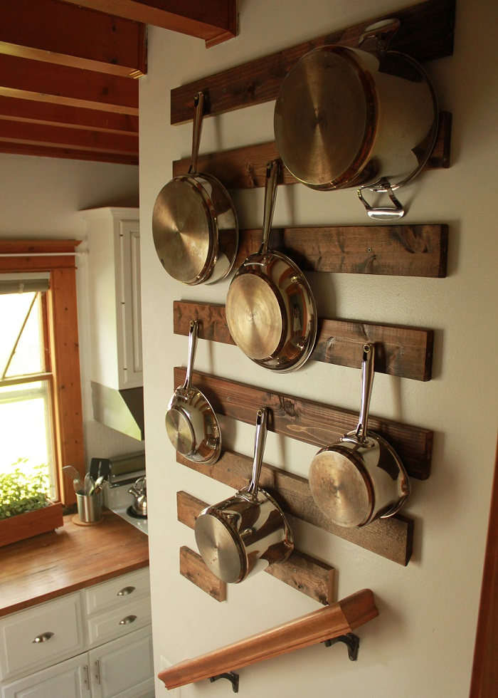 hanging pots kitchen hack